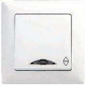 Visage intrerupator cap scara cu LED
