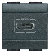 Mufă HDMI antracit