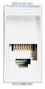 Priză telefon RJ11 1M albă