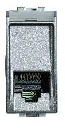 Priză telefon RJ11 1M aluminiu
