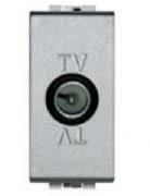 Priză TV de capăt LIVING LIGHT aluminiu