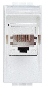 Priză UTP RJ45 cat.5e LIVING LIGHT alb