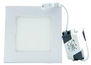 Spot LED patrat 6W lumina calda, incastrat