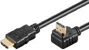 Cablu HDMI tata-tata, V2.0, 1M, mufa la 90 de grade, aurit