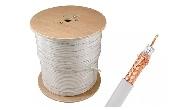 Cablu coaxial RG6 Cupru Q5+ LOW LOSS alb
