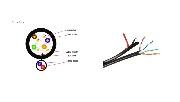 Cablu UTP + 2x0.75 Q5+ (UTP cu alimentare)